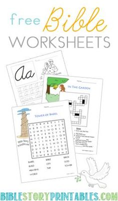 Bible Worksheets Tutors Worksheets and more. These are great to use for Sunday Bible Lessons Bible School Crafts, Preschool Bible, Bible Activities, Bible Crafts, Church Activities, Bible Games, Group Activities, Sunday School Projects, Sunday School Kids