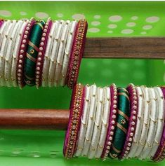Silk Thread Bangles at Silk Thread Bangles Design, Silk Bangles, Silk Thread Earrings, Bridal Bangles, Thread Jewellery, Fabric Jewelry, Beaded Jewellery, Beaded Necklace Patterns, Jewelry Patterns