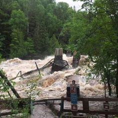 Jay Cooke State Park- swinging bridge swept away.  Near Duluth, Minnesota.  ST. PAUL, Minn. - Jay Cooke State Park will remain closed until further notice due to severe flood damage to Highway 210 according to the Minnesota Department of Natural Resources.  6/26/2012