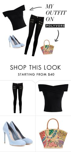 """198"" by agnesmocsai on Polyvore featuring Paige Denim, Chicwish, Miu Miu and Tory Burch"