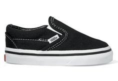 Vans Classic Slip On Toddler Shoe Black 7.5 -Kids