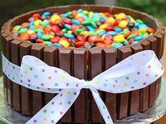 Kit Kats and M&Ms Cake :)