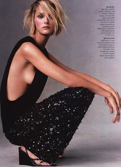 Carmen Kass in Starry Nights for Vogue, December 2000 Shot by Steven Meisel Styled by Tonne Goodman