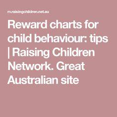Reward charts for child behaviour: tips | Raising Children Network. Great Australian site