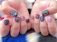 Mani Pedi, Nail Manicure, Korea Nail, Korean Nail Art, Kawaii Nails, Sailor Moon, Nail Polish, Minimalist Nails, How To Do Makeup