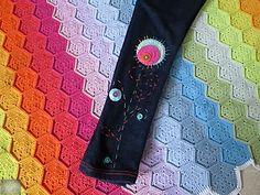 Horgolt virágszerű rátét/Crocheted flower-kind applique