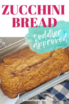 Recipes For Picky Eaters Toddler Approved Zucchini Bread by ariana dagan Baby Food Recipes, Healthy Recipes, Kid Recipes, Healthy Eats, Free Recipes, Chicken Recipes, Zuchinni Bread, Kids Meals, Easy Meals