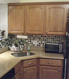 backsplash made from placemats