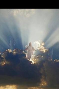 Jesus in the clouds Image Jesus, Saint Esprit, Jesus Christus, Jesus Art, Jesus Is Coming, Prophetic Art, Jesus Pictures, Jesus Is Lord, King Jesus