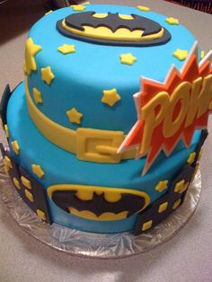 batman cake -  I like it because it's not all black, for variety - emma