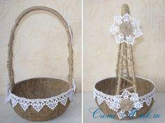 Sisal, Collage, Diy Flowers, Flower Diy, String Art, Plant Hanger, Diy And Crafts, Basket, Pillows