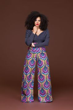 Doyon African Print Wide Leg Pants| Grass-Fields| Versatile and perfect for day or night