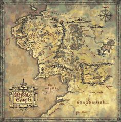 This will be a relaxing winter project (or it may drive me mad.) Cross-stitch Middle Earth Map, via Quirkbooks.