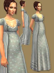 A beautiful maternity gown for your Regency moms-to-be.
