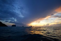Sunset in Thailand near Krabi. Travel destinations www.escapebuttonblog.com