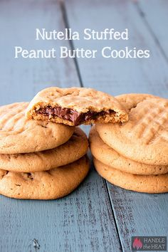 Nutella Stuffed Peanut Butter Cookies - you've GOT TO MAKE THESE!