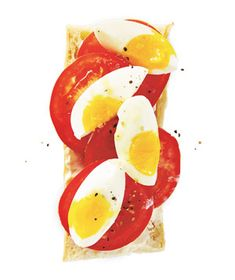 Open-Faced Egg and Tomato Baguette This sandwich is also delicious with roasted tomatoes or topped with avocado.