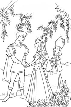 Sleeping Beauty ball coloring pages for kids, printable free ...