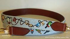 The Needlepoint Binding Stitch - Serendipity Needleworks Needlepoint Belts, Needlepoint Canvases, Leather Choker Necklace, Purse Strap, Key Fobs, Pet Collars, Needle And Thread, Serendipity, Handicraft