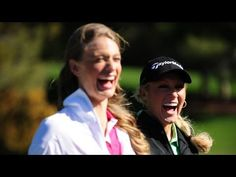 Natalie Gulbis gives golf lesson to Sports Illustrated Swimsuit model Julie Henderson - http://maxblog.com/16280/natalie-gulbis-gives-golf-lesson-to-sports-illustrated-swimsuit-model-julie-henderson/