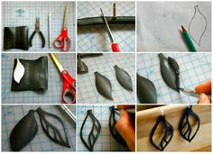 Photo tute - leaf cut-outs.  #Polymer #Clay #Tutorials