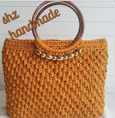 Crochet Tote, Crochet Handbags, Crochet Purses, Yarn Thread, Crochet World, Pouch, Wallet, Handmade Bags, Straw Bag