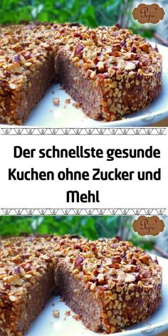 I don& know of a faster and healthier cake .-Einen schnelleren und gesünderen Kuchen kenne ich nicht … Ohne Mehl ohne Zuck… I don& know a faster and healthier cake … You can& live without flour without sugar without cake :] - Quick Dessert Recipes, Easy Cake Recipes, Cookie Recipes, Pasta Recipes, Budget Recipes, Recipes Dinner, Crockpot Recipes, Food Cakes, Healthy Cake