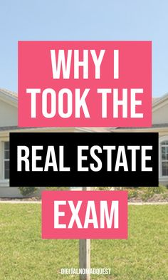 I PASSED! Here's Why I Took the Real Estate Exam - Digital Nomad Quest - In this post I talk about why I took the real estate exam. Real estate tips, real estate agent tips - Real Estate Exam, Real Estate School, Real Estate Memes, Real Estate Business, Real Estate Tips, Real Estate Investing, Real Estate Marketing, Real Estate Agent License, Exams Tips