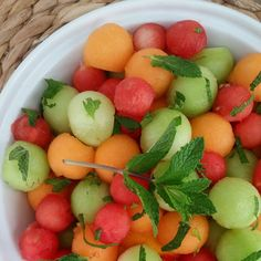 Spring Mojito Fruit Salad http://cleanfoodcrush.com/mojito-fruit-salad