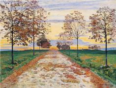 Autumn Evening - Ferdinand Hodler: I see in this painting intimations of immortality. Note by Roger Carrier