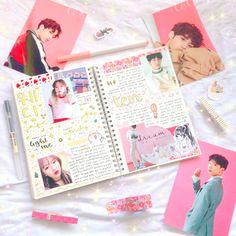 instagram: winkoberry ♡ birthday spread for nct's ten & red velvet's wendy ☆彡 [ kpop journal #kpopjournal #redvelvet #nct #bujo #bulletjournal ]