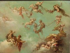 Flying Putti by Virgilio Tojetti