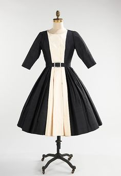 Mainbocher cocktail dress, 1958