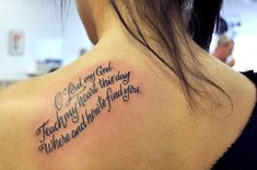 Back Quote Tattoos for Women