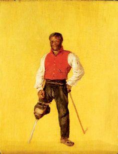 Billy Waters, marino y de la calle / mendigo, 1815 - David Wilkie