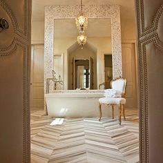 Herringbone Tile - Design photos, ideas and inspiration. Amazing gallery of interior design and decorating ideas of Herringbone Tile in living rooms, bathrooms, kitchens by elite interior designers. Marble Herringbone Tile, Marble Floor, Chevron Tile, Herringbone Pattern, Chevron Patterns, Marble Tiles, Chevron Floor, Floor Patterns, Carrara Marble