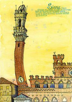 Siena Italy by tkane9 on Etsy