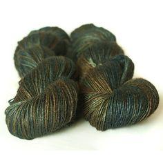 Lunayarns Wild Mothwing 'Warlock'  100% Pure Swiss Wild Tussah Silk  Fingering weight