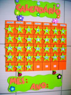 painel de calendario em eva - Buscar con Google Class Decoration, School Decorations, Classroom Organization, Classroom Decor, Diy And Crafts, Crafts For Kids, Classroom Calendar, Dora, Delaware