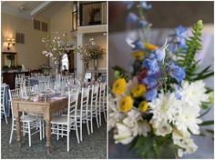 Rose & Dan | Mill at Fine Creek Wedding Photographylove the centerpieces-guests can really socialize-not distracting