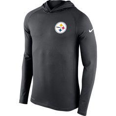 4bae9233 Pittsburgh Steelers Nike Dri-Fit Stadium Gray Touch Hooded Mens Shirt Nfl  Redskins, Nfl