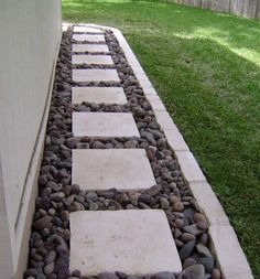 Pebbled Pathway - need to do for backyard walkway from the back and side porch