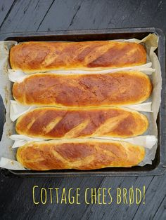 Cloud Bread, Best Chef, Cottage Cheese, Baguette, Hot Dog Buns, Food And Drink, Cooking Recipes, Lunch, Snacks