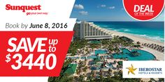Save BIG on your next IBEROSTAR Hotels & Resorts vacation! http://www.sunquest.ca/en/iberostar-free-upgrade #TravelDeals
