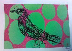 brandon13295's art on Artsonia Two color prints-8th Grade