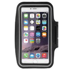 iPhone 6S Plus Sportarmband, HAWEEL ® Sport Armbandtasche mit Ohrhörer Loch & Schlüssel Tasche für iPhone 6 Plus & 6 s Plus, Samsung Galaxy S6 / S5, schwarz: Amazon.de: Elektronik