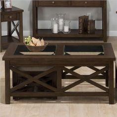 Jofran Coffee Table with 2 Nesting Ottomans in Xavier Birch Jofran http://www.amazon.com/dp/B00EOH2580/ref=cm_sw_r_pi_dp_2g9Rwb0538Y7D
