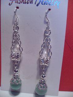 Green Cats Eyes Beaded Earrings by SparklingJewelryShop on Etsy, $10.00
