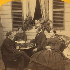 A Game of Chess - Gilded Age, c.1890.
