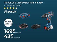 Perceuse visseuse sans fil BOSCH PROFESSIONAL GSR 18V-28 - 🤩Découvrir ici : #Bosch #Perceusevisseuse #Perceusepascher #Perceuse #Cdiscount #Outillage #Perceusesansfil